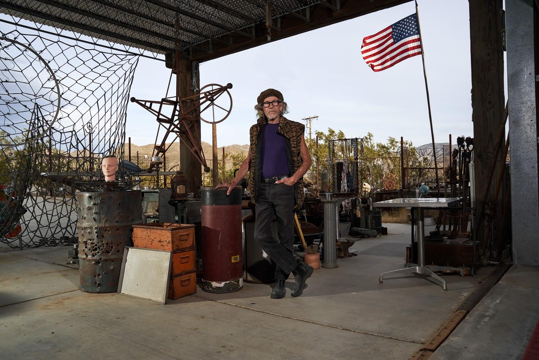 Bobbby Furst at Furstworld in Joshua Tree, California